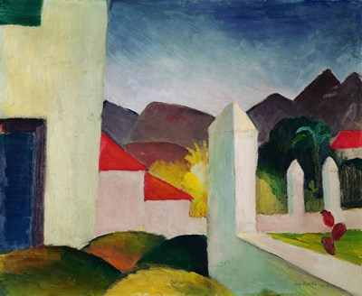 Tunisian Landscape Poster by August Macke for $53.75 CAD