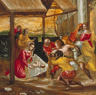 Adoration of the Shepherds (manger scene) Poster by El Greco for $26.25 CAD