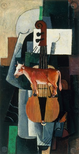 Bull and Violin, 1903 Poster by Kazimir Malevich for $43.75 CAD