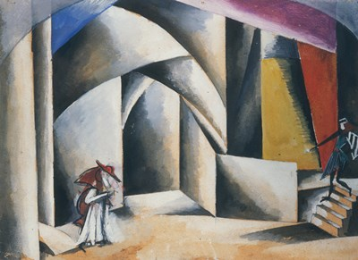 Friar Laurence'S Cell, 1920 Poster by Liubov Popova for $38.75 CAD