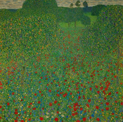 A Field Of Poppies, 1907 Poster by Gustav Klimt for $53.75 CAD