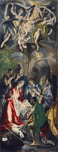 Adoration of the Shepherds (vertical panel) Poster by El Greco for $58.75 CAD