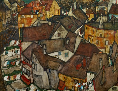 A Village, 1915 Poster by Egon Schiele for $52.50 CAD