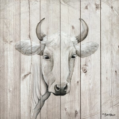 January Cow I Poster by Britt Hallowell for $35.00 CAD