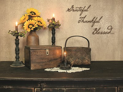 Grateful, Thankful, Blessed Poster by Susie Boyer for $41.25 CAD