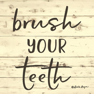 Brush Your Teeth Poster by Susie Boyer for $35.00 CAD