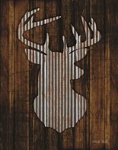 Deer Head I Poster by Cindy Jacobs for $40.00 CAD