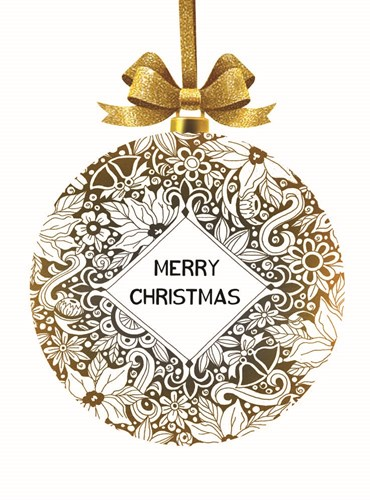 Merry Christmas Ornament Poster by Cindy Jacobs for $41.25 CAD