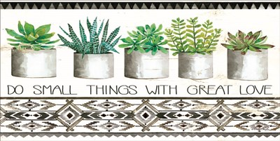 Do Small Things Succulents Poster by Cindy Jacobs for $37.50 CAD