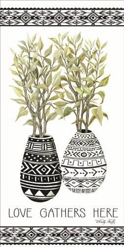 Love Gathers Here Mud Cloth Vase Poster by Cindy Jacobs for $52.50 CAD