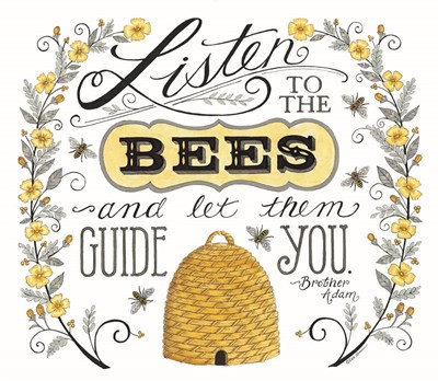 Listen to the Bees Poster by Deb Strain for $45.00 CAD