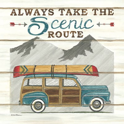 Always Take the Scenic Route Poster by Deb Strain for $35.00 CAD