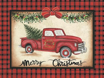 Merry Christmas Truck Poster by Lisa Kennedy for $41.25 CAD