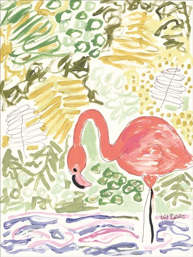 Fancy the Flamingo Poster by Kait Roberts for $41.25 CAD