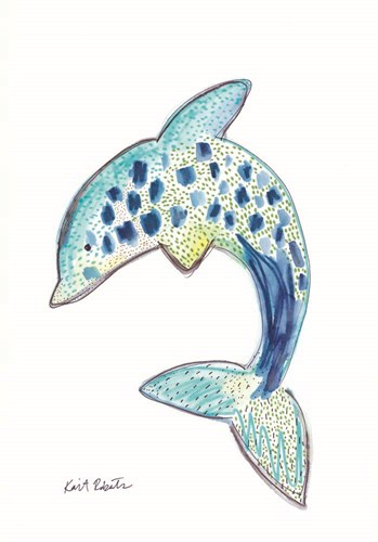 D is for Dolphin Poster by Kait Roberts for $42.50 CAD