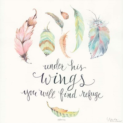Under His Wings Poster by Linda Arandas for $56.25 CAD