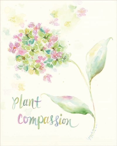 Plant Compassion Poster by Linda Arandas for $40.00 CAD