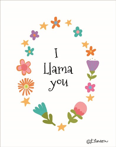 I Llama You II Poster by Lisa Larson for $40.00 CAD