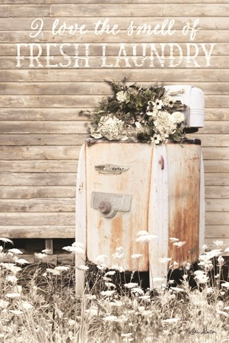 I Love the Smell of Fresh Laundry Poster by Lori Deiter for $43.75 CAD