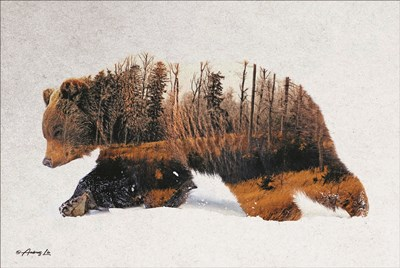 Traveling Bear Poster by Andreas Lie for $43.75 CAD