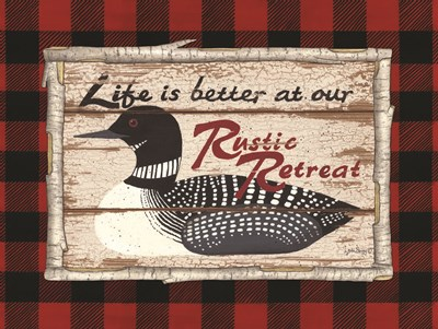 Plaid and Loon Poster by Linda Spivey for $41.25 CAD