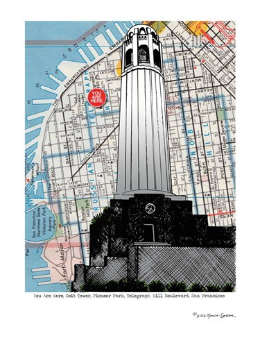 Colt Tower - San Francisco Poster by Lyn Nance and Stephen Sasser for $67.50 CAD
