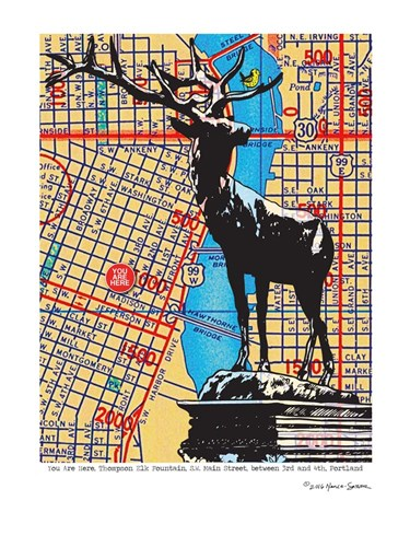 Thompson Elk Foundation Portland Poster by Lyn Nance and Stephen Sasser for $67.50 CAD