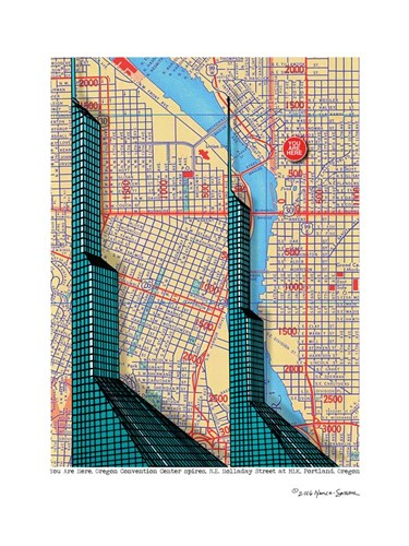 Oregon Convention Center Poster by Lyn Nance and Stephen Sasser for $67.50 CAD