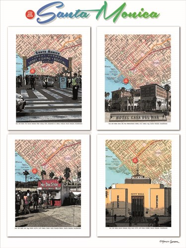 Santa Monica Poster Poster by Lyn Nance and Stephen Sasser for $67.50 CAD