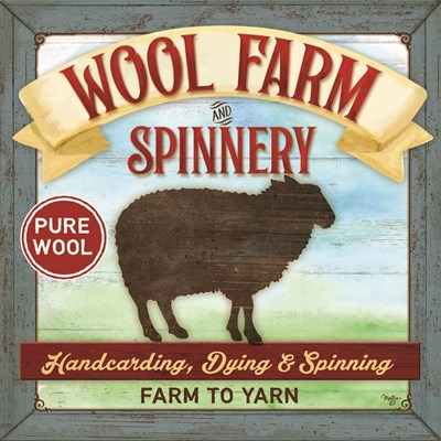 Wool Farm Spinnery Poster by Mollie B. for $35.00 CAD