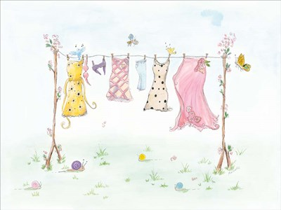 Cherry Blossom Laundry Day Poster by Mia Russell for $67.50 CAD