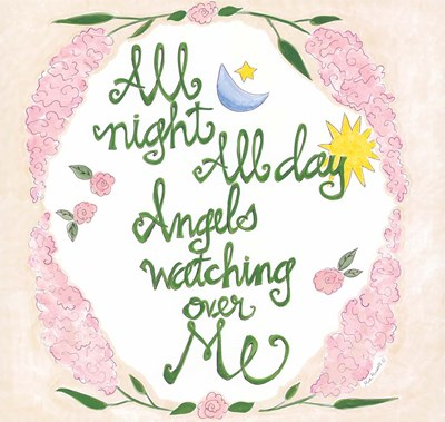 Angels Watching Over Me Verse Poster by Mia Russell for $62.50 CAD