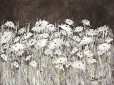 Field of Flowers on a Starry Night Poster by Roey Ebert for $67.50 CAD