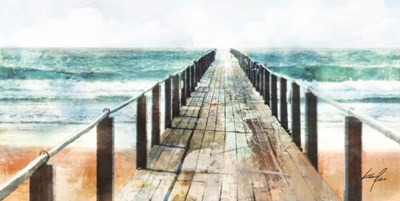 Blue Pier Poster by Ken Roko for $37.50 CAD