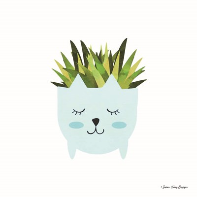 Cat Plant Poster by Seven Trees Design for $35.00 CAD