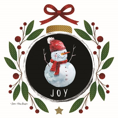Joy Christmas Ornament Poster by Seven Trees Design for $35.00 CAD