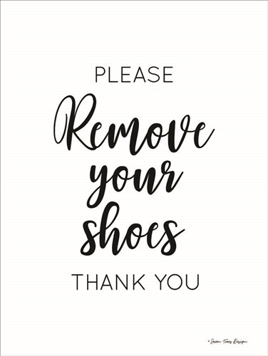 Remove Your Shoes Poster by Seven Trees Design for $41.25 CAD