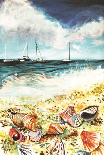 Shell Beach Poster by Sharlena Wood for $43.75 CAD