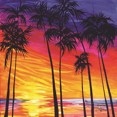 Tropical Sunset Poster by Sharlena Wood for $35.00 CAD