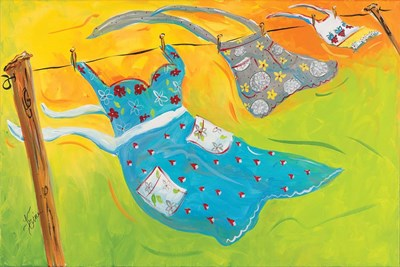 Blowing Laundry Poster by Terri Einer for $62.50 CAD