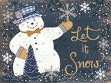 Snowy Christmas Snowman
