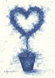 Blue Heart Topiary