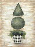 Gingham Topiary Cone