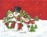 Snowmen Family Merry Christmas
