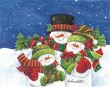 Blustery Snowmen Family