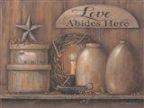 Love Abides Here Shelf