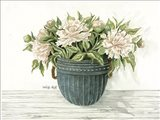 Galvanized Pot Peonies