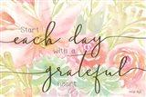 Floral Grateful Heart