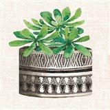 Cactus Mud Cloth Vase II