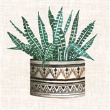 Cactus Mud Cloth Vase III